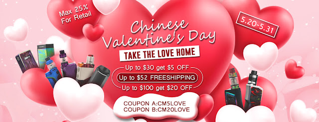 Chinese Valentine's Day Shopping at Vandy Vape Authorized Online Store