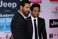 Red Carpet of Most Stylish Awards 2017 ~ John Aham and Ayushmann Khurrana .JPG