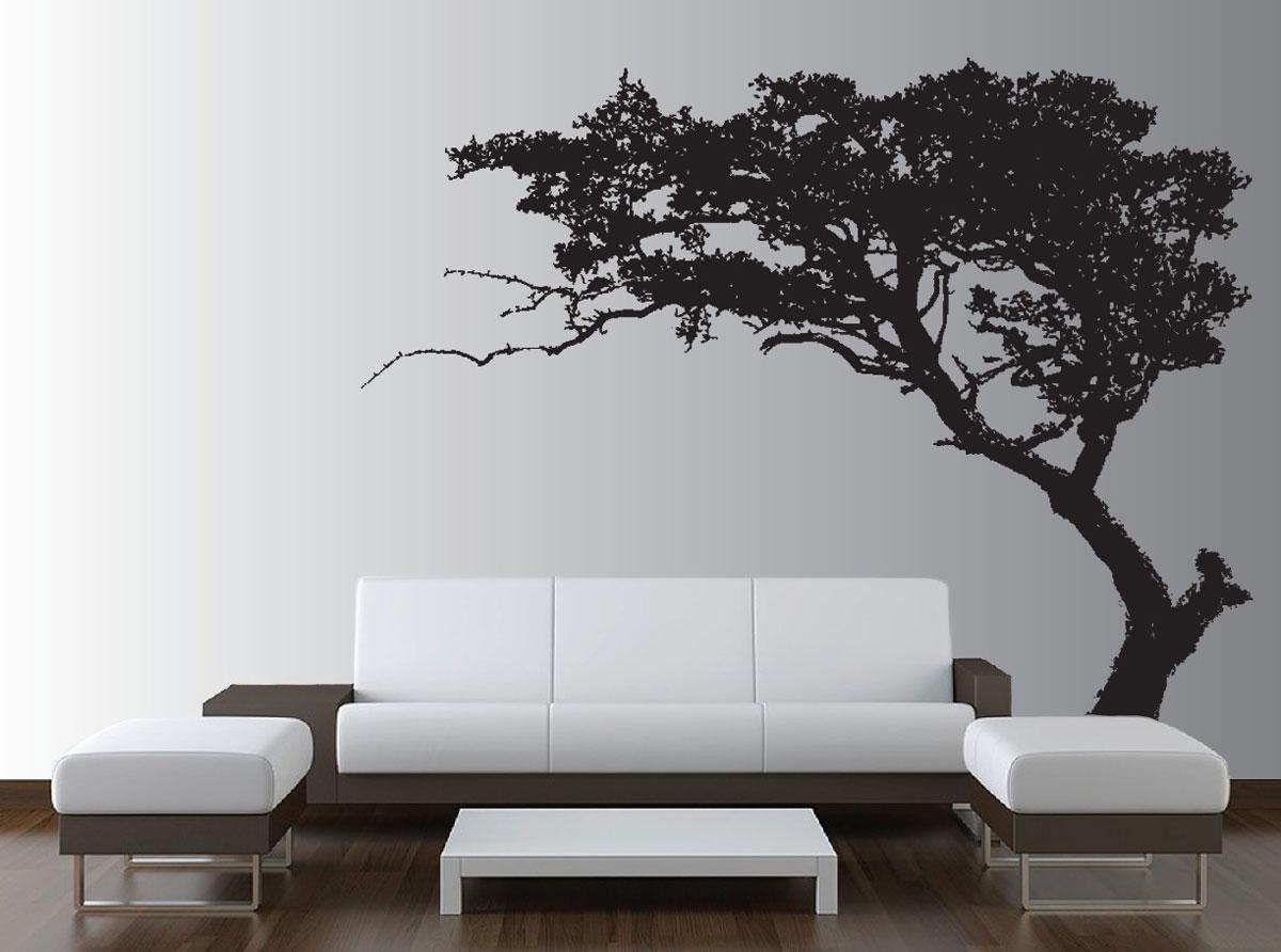 Lukisan Dinding Ruang Tamu Gambar Pohon
