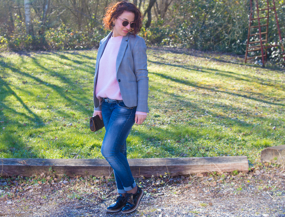 look - veste - prince de galles - mode