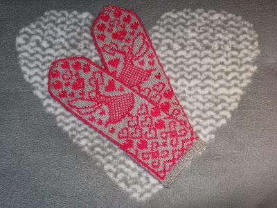 Fairy in love mittens - Rakastunut keijukainen lapaset (pdf)