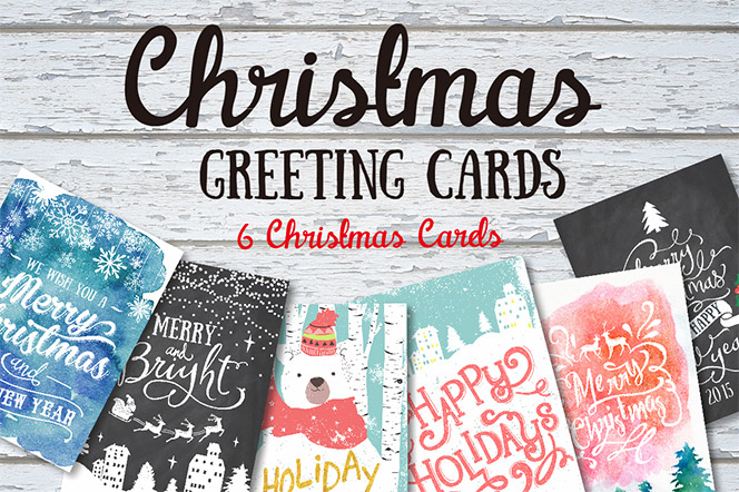 6 Christmas greeting cards set - Graphic Box