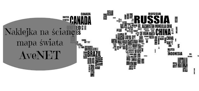 RECENZJA: Naklejka na ścianę - mapa świata | AveNET