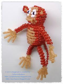 Monkey in 3D beading