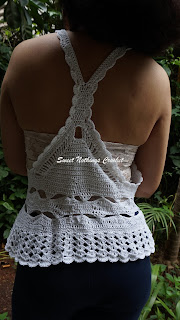 free crochet racer back top pattern