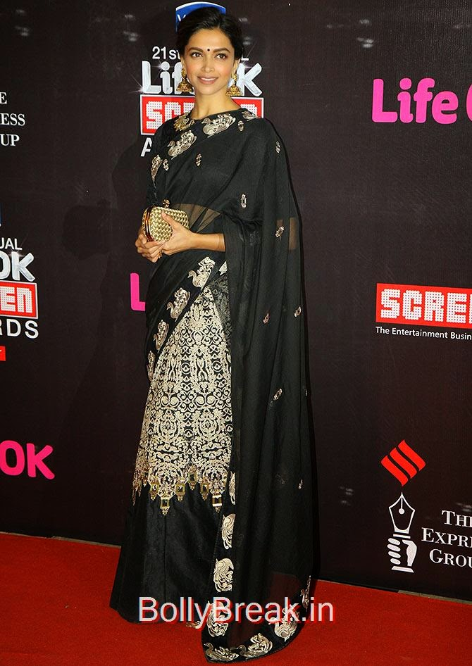 Deepika Padukone, Life Ok Screen awards 2015 Red Carpet Hot Pics