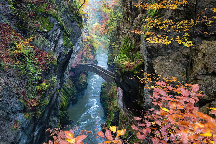 Gorge De L'areuse in Switzerland - 20 Mystical Bridges That Will Take You To Another World