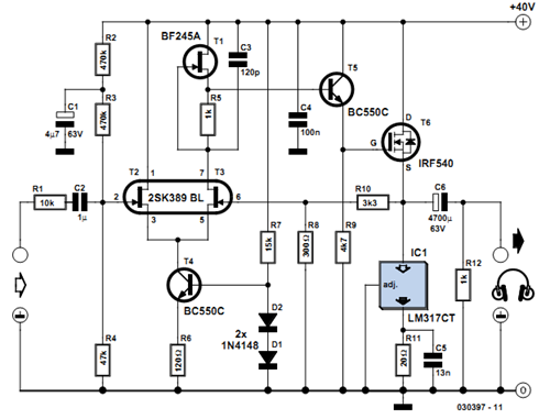 circuit diagram of differential amplifier