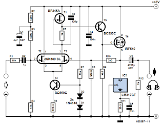 Precision Headphone Amplifier Circuit Diagram