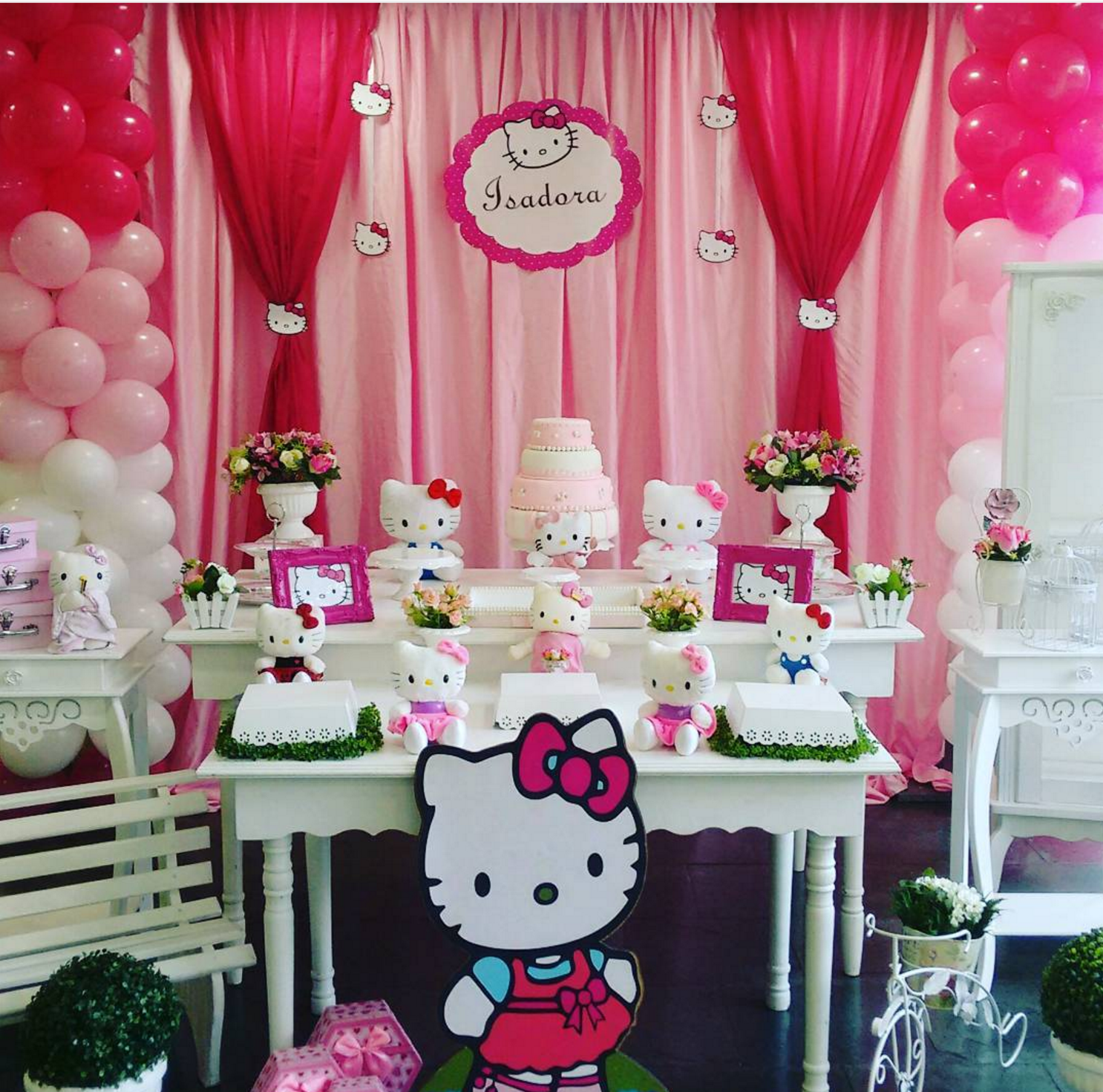101 fiestas una fiesta divertida con hello kitty - Cortinas de hello kitty ...
