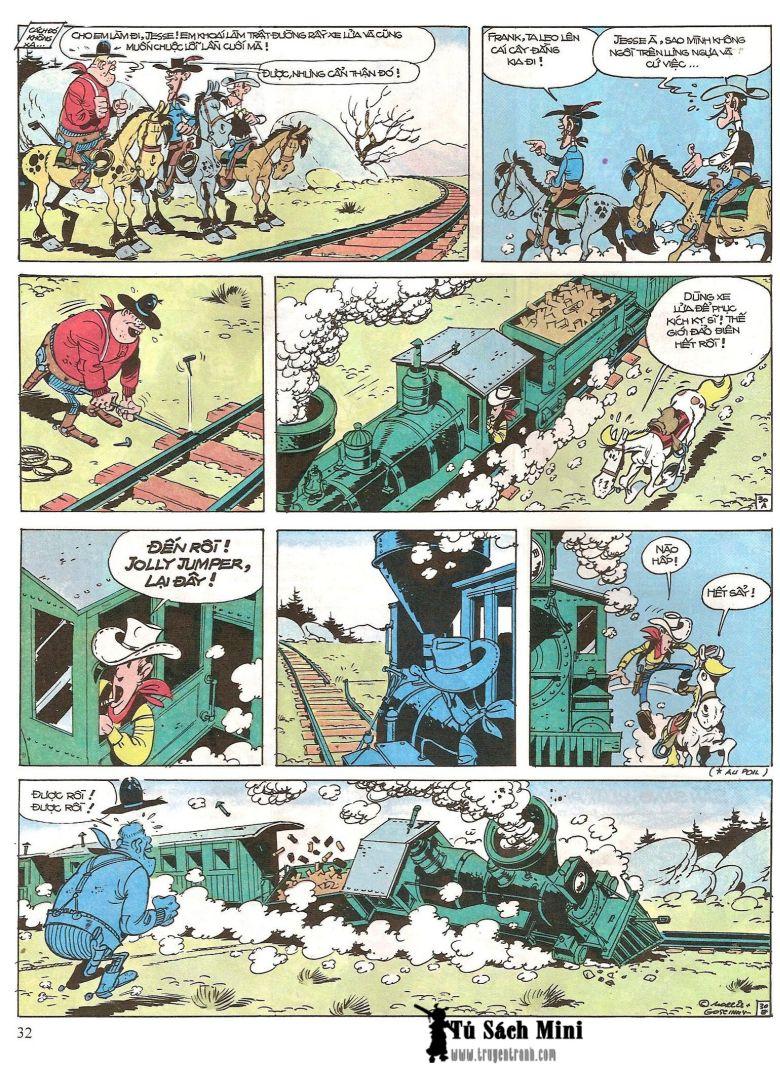 Lucky Luke tap 16 - jesse james hiep si rung xanh trang 34