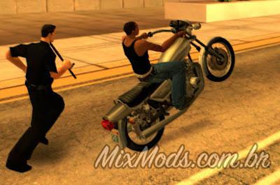 mod cleo policia te perseguir ao empinar moto no gta sa
