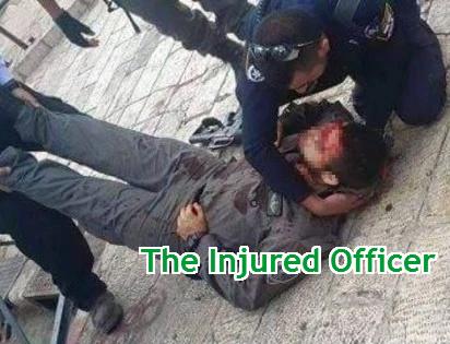 arab stabbed israeli police