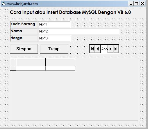 Membuat Form Pada Visual Basic 6.0