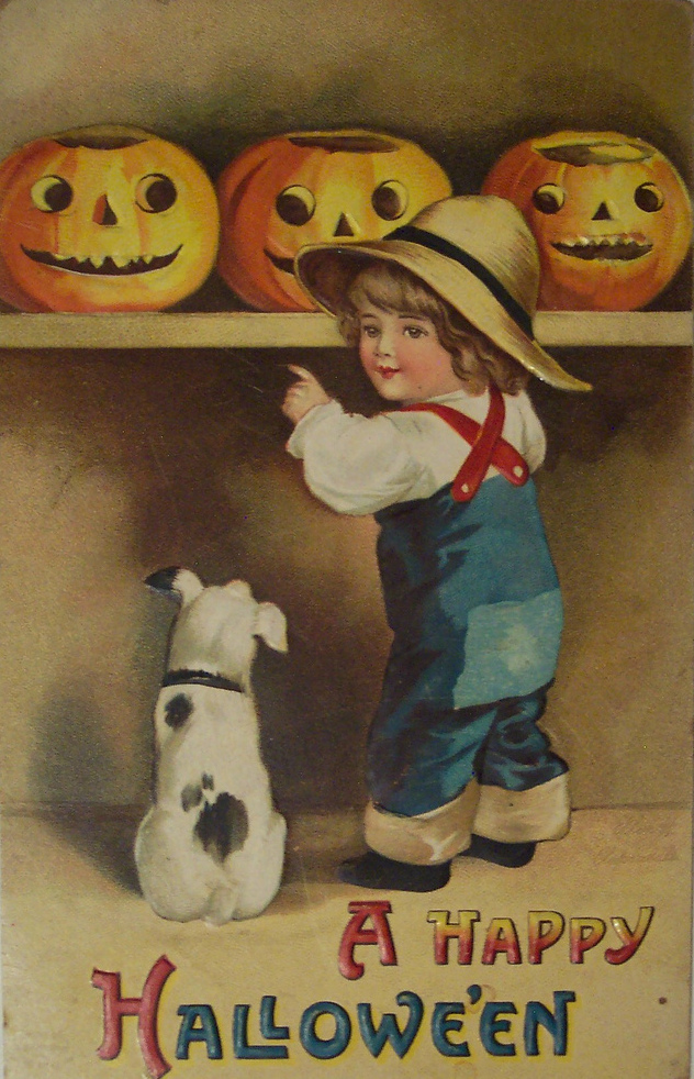 25 Interesting And Adorable Vintage Halloween Postcards