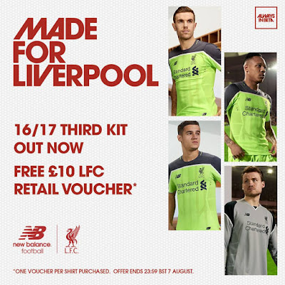 Berita Bola Photo Detail Jersey Ketiga Liverpool 2016/2017