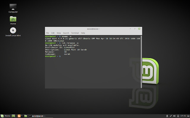 Linux Mint 18 Cinnamon Beta preview