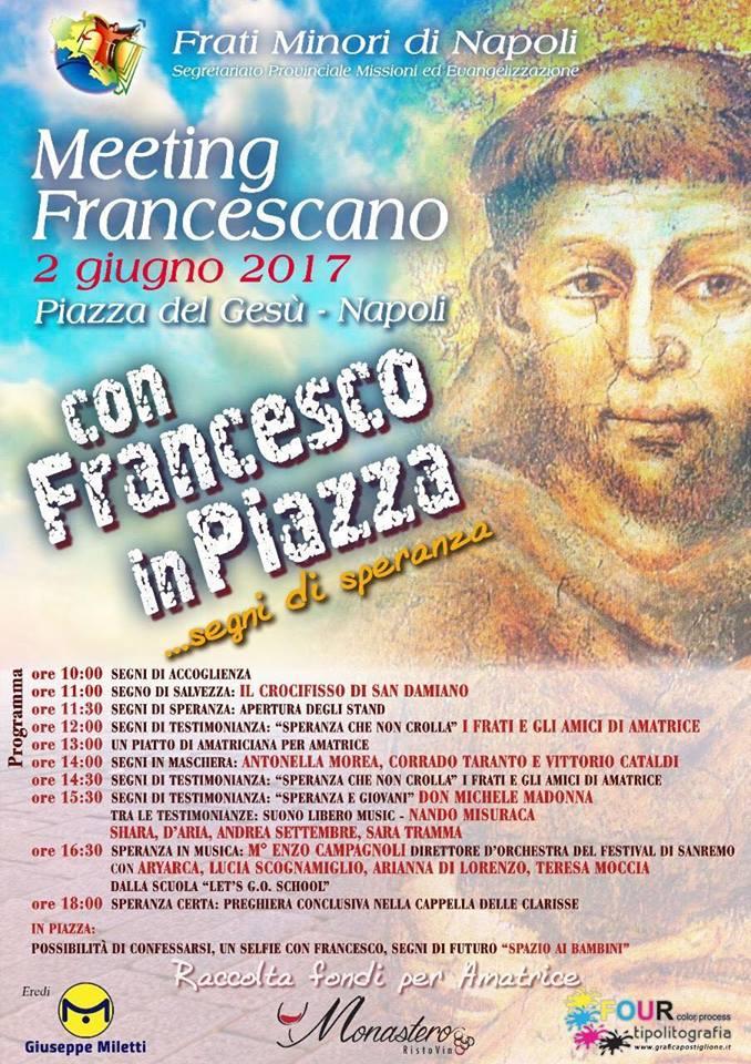 meeting francescano a napoli il 2 giugno in piazza del Gesù