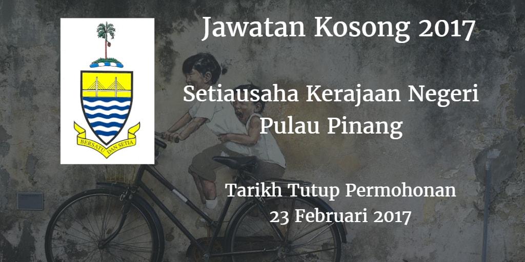 Jawatan Kosong SUK Pulau Pinang 23 Februari 2017