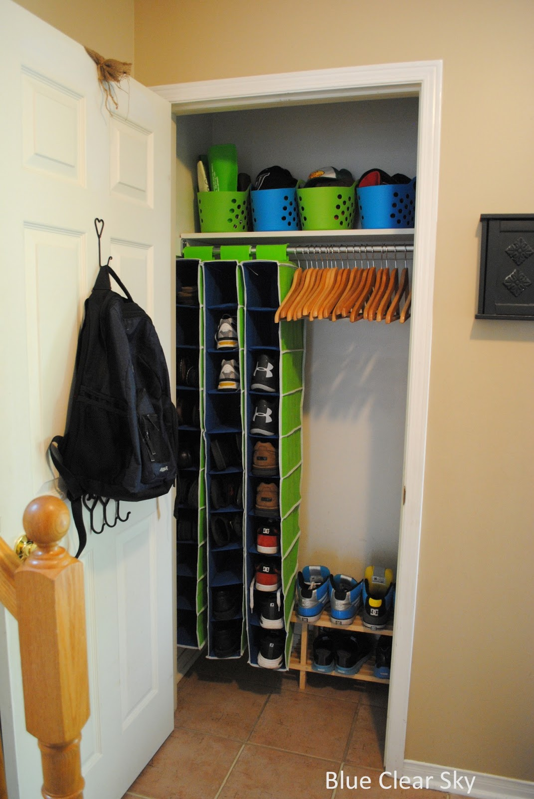 Entry Closet Organization Ideas - Country Home Design Ideas