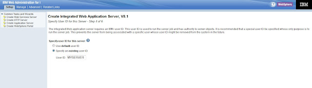 Setup IBM Integrated Web Application Server for i