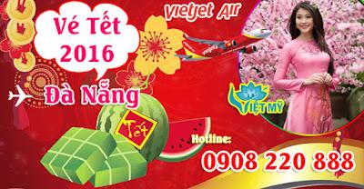 Vé máy bay tết đi Đà Nẵng hãng Vietjet Air