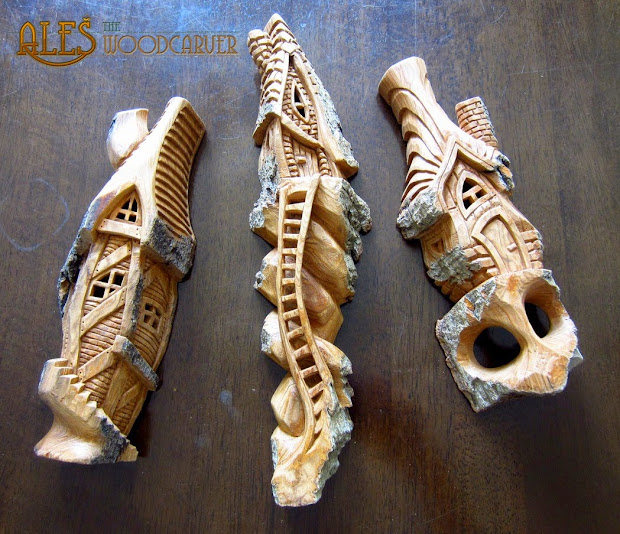 Ales Woodcarver Small Whimsical Houses
