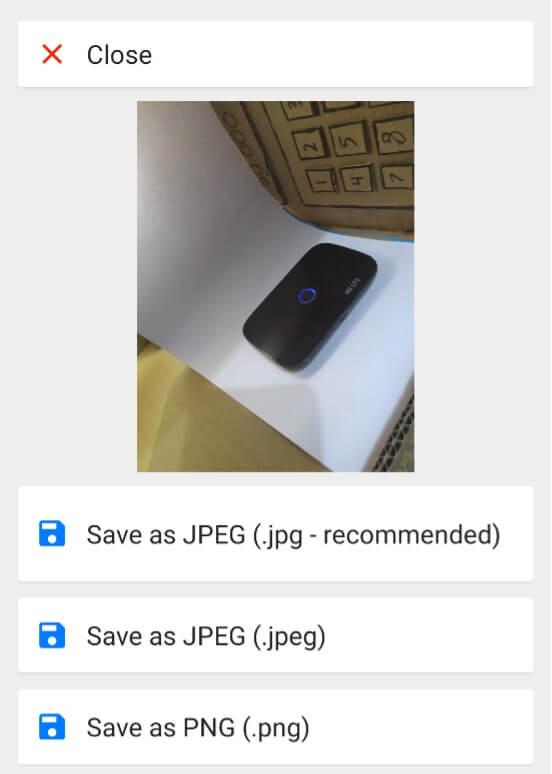 Mengganti Format Ke PNG Di Android
