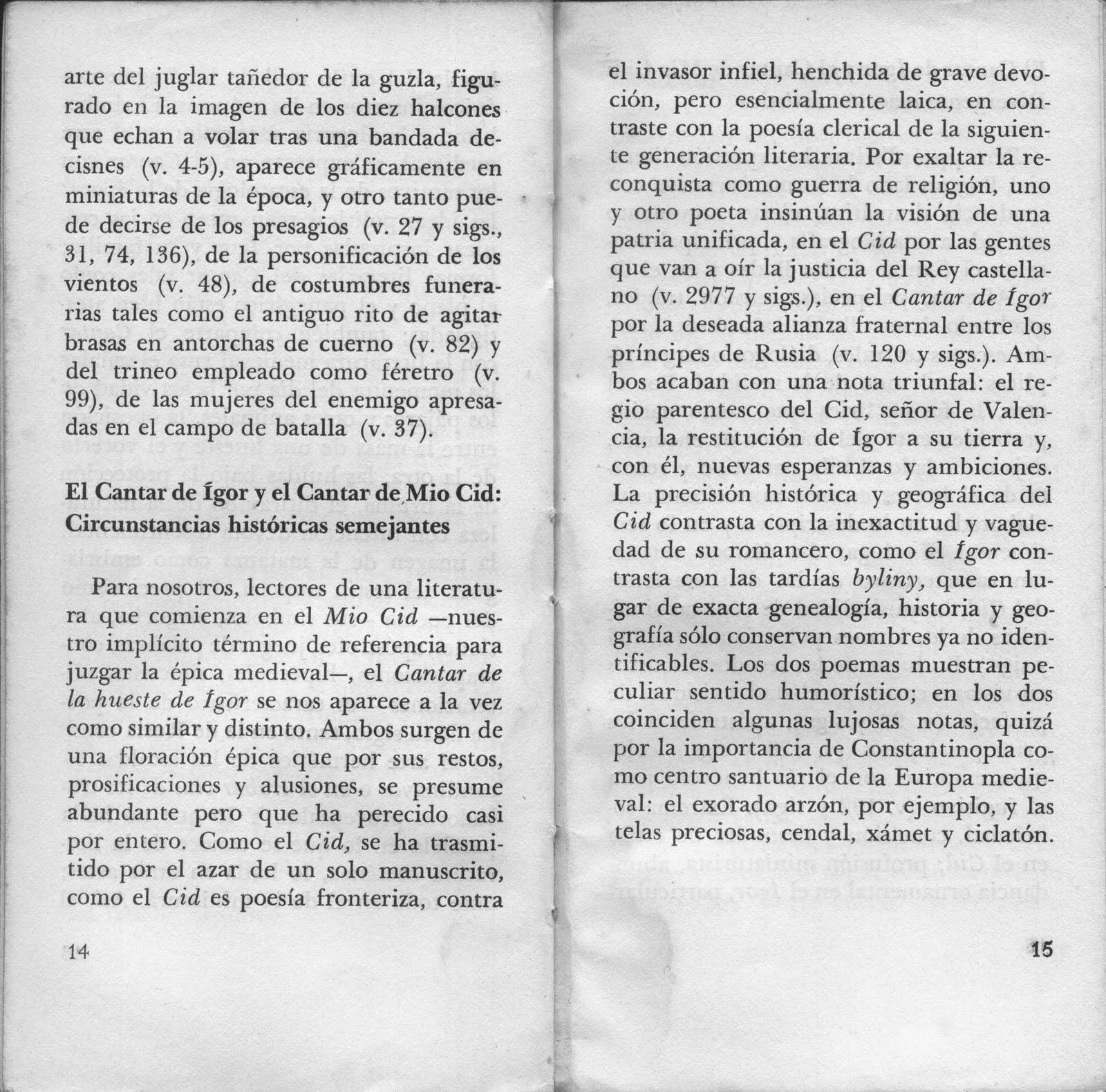 Apuntes De Literatura Extranjera Cantar De La Hueste De Igor