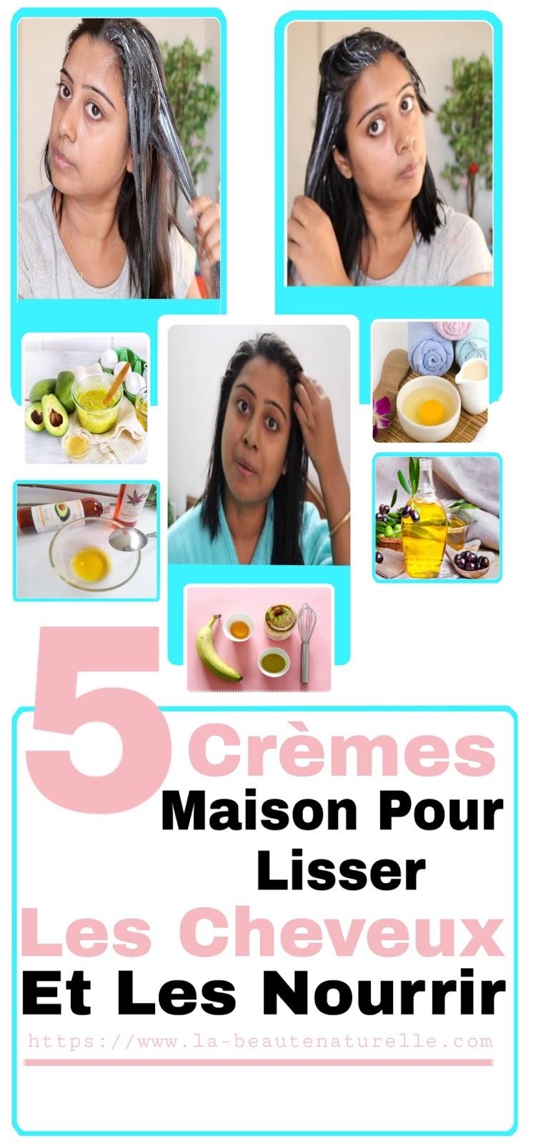 5 Crèmes Maison Pour Lisser Les Cheveux Et Les Nourrir