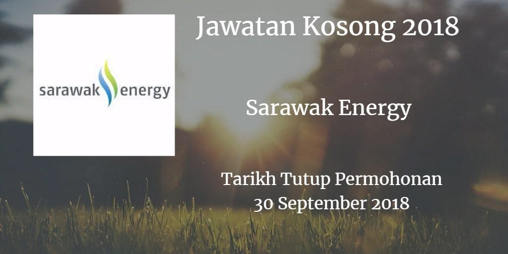 Jawatan Kosong Sarawak Energy 30 September 2018