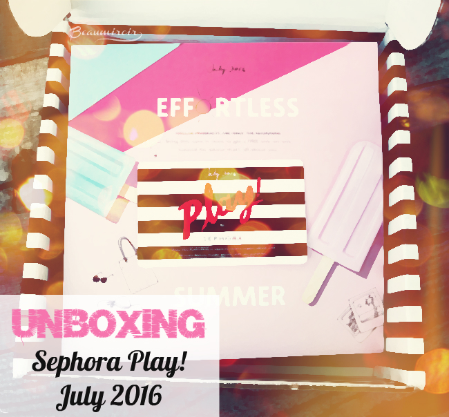 Review Sephora Play! July 2016 beauty subscription box!