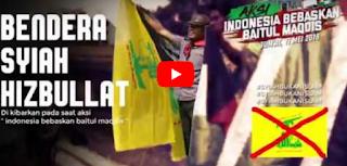 Aksi Bebaskan Baitul Maqdis Ditunggangi Syiah, Bendera Hizbullah Berkibar [Video]