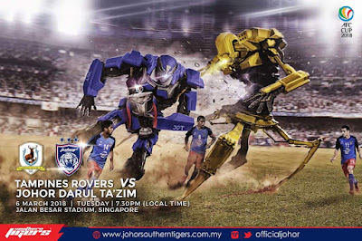 Live Streaming Tampines Rovers FC vs JDT FC AFC Cup 6 Mac 2018