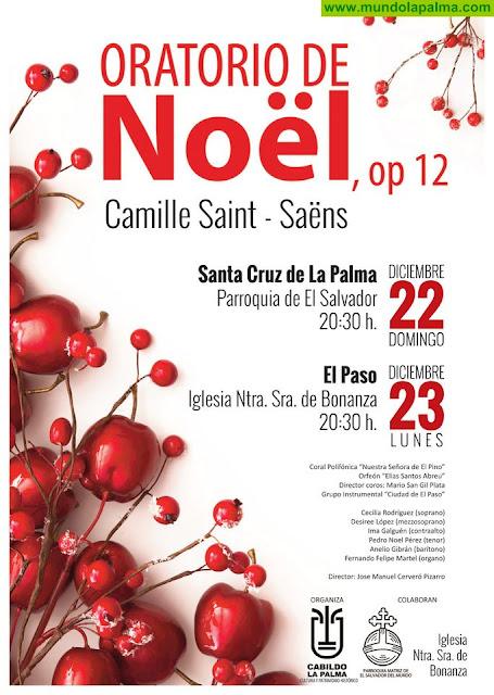 El Cabildo programa la interpretación del 'Oratorio de Navidad' en Santa Cruz de La Palma y El Paso