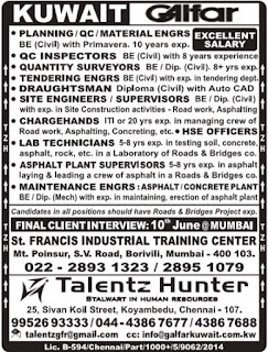 Latest Galfar Kuwait jobs June 2017