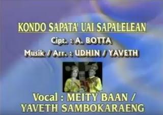 Lirik Lagu Toraja Kondo Sapatu' Uai Sapalelean (Meity Baan/Yaveth S)