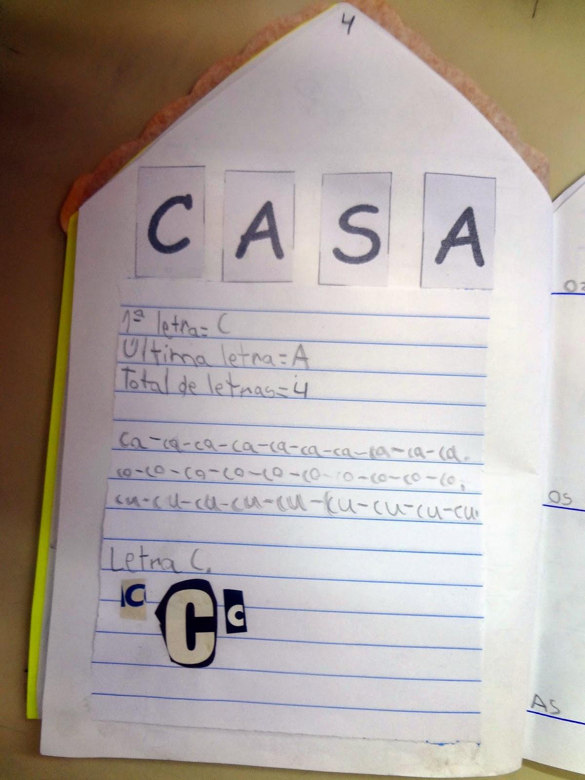 Prof Carllinha Letra C de Casa