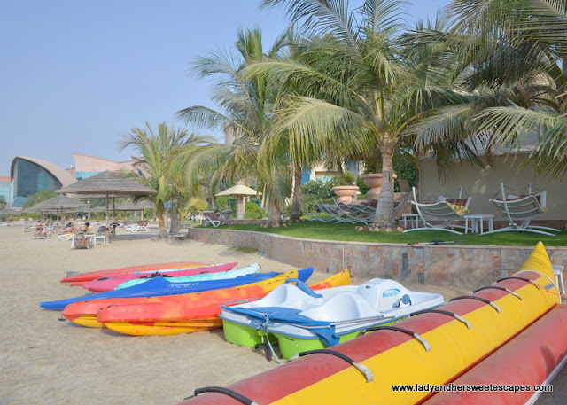 Al Raha Beach Hotel water sports