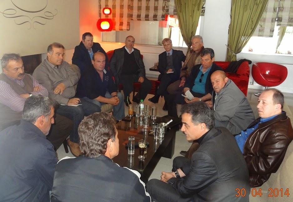 Συνάντηση του υποψήφιου Περιφερειάρχη Δυτικής Μακεδονίας κ. Θεόδωρου Καρυπίδη με παραγωγικούς φορείς του Νομού Καστοριάς.