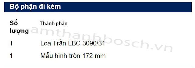 Loa trần LBC 3090/31