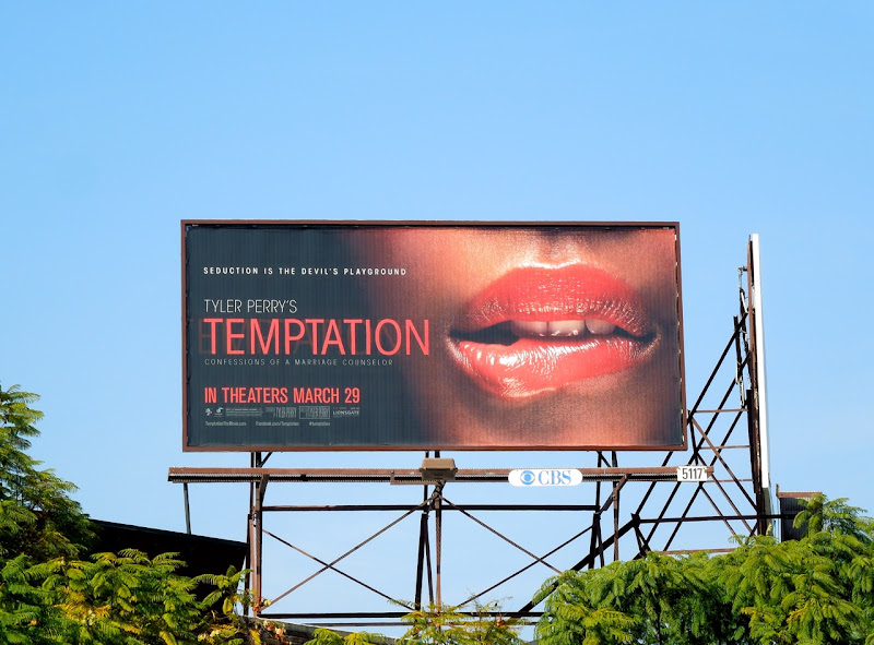Tyler Perrys Temptation movie billboard