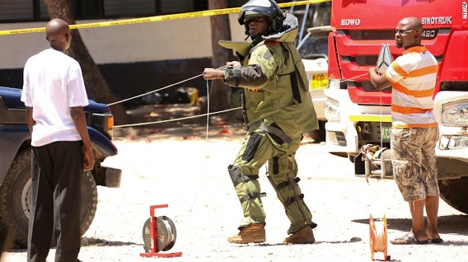 Kenyan officers kill three veiled attackers in assault on police station