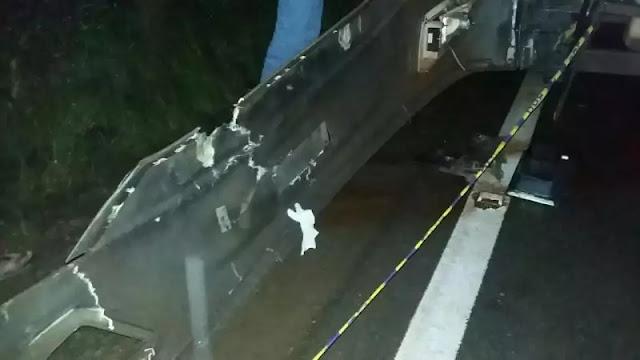 PRF registra acidente envolvendo caminhão e ônibus na BR 364