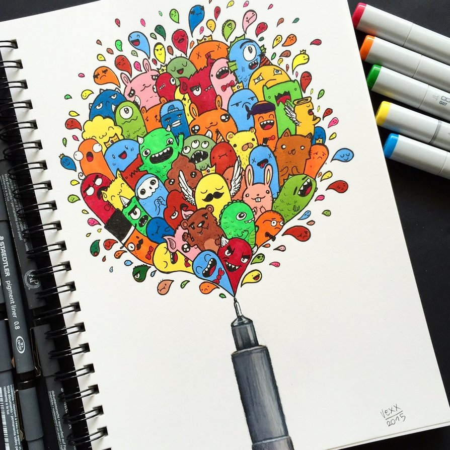 13-How-To-Doodle-Vince-Okerman-vexx-Doodle-Drawings-that-Brightenup-your-Day-www-designstack-co