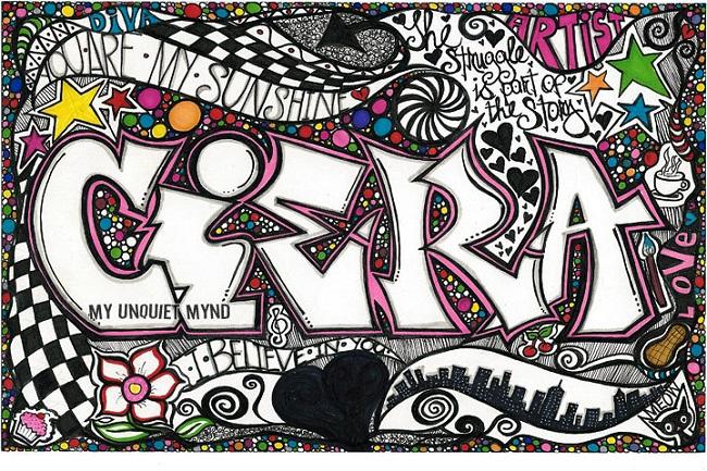 Jenis Doodle Art - Doodle Graffiti