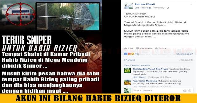 Orang Ini Sebut Habib Rizieq Di Teror Sniper, Nyata Atau Cari Sensasi ??