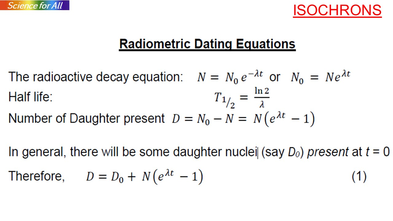 Radioisotope dating formula