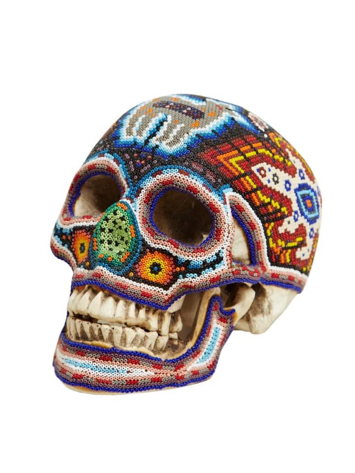 Изысканные черепа. Huichol Skull 14