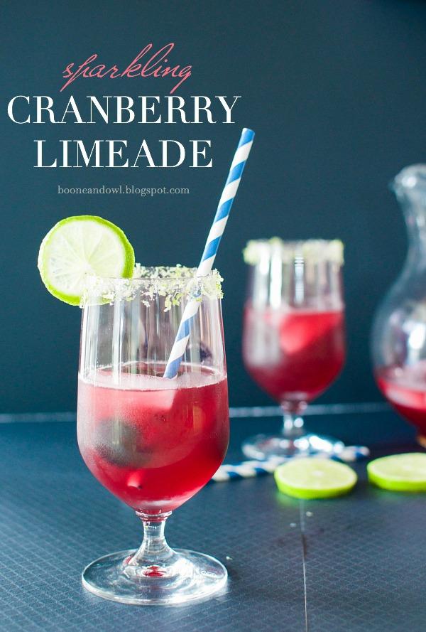 Sparkling Cranberry Limeade
